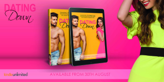 Dating Down Teaser - Book Cover on Pink